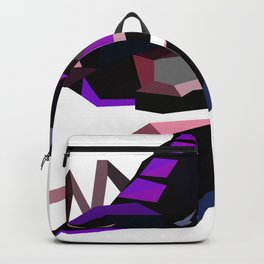 Scorpion geometric Animal  Zodiac sign Black and purple Backpack