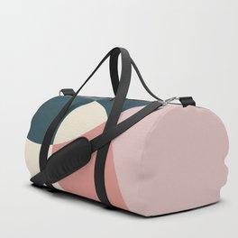 Earth tones overlapping geometric shapes Duffle Bag