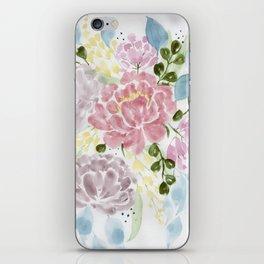 Loose watercolor floral painting iPhone Skin