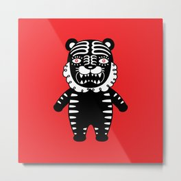 Kuro the Black Tiger Metal Print