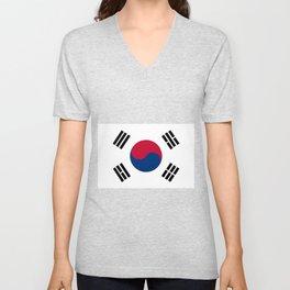South Korean Flag Unisex V-Neck