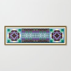 Lavender and Teal Canvas Print