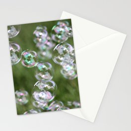 Floating Bubbles Outdoors Stationery Cards