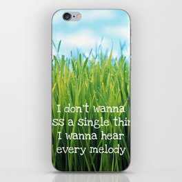 Hear Every Melody iPhone Skin