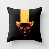 cowboy Throw Pillows featuring Cowboy by Vladislav Chulkov