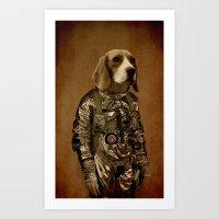 beagle Art Prints featuring Beagle by Durro