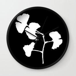 Ginkgo Biloba Wall Clock