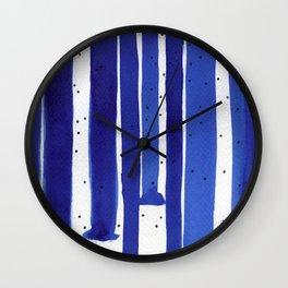 Ultramarine series #6 Wall Clock