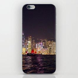Hong Kong Night Skyline iPhone Skin