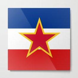 Yugoslavia National Flag Metal Print
