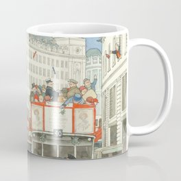 "William Heath Robinson - ""The Spirit of Christmas in Regent Street"" (1928) Coffee Mug"