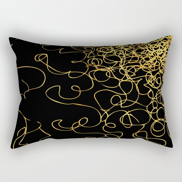 swirly gold gradient Rectangular Pillow