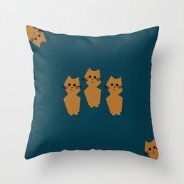 Curious Cats Throw Pillow
