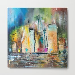 Evening in NY Metal Print