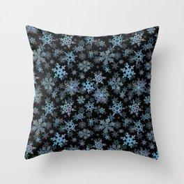 """""""Embroidered"""" Snowflakes Throw Pillow"""