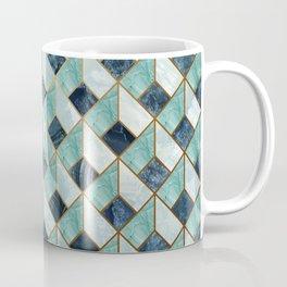 """Agate teal Indigo quartz Art Deco pastel"" Coffee Mug"