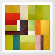 Color Study Abstract 10.0 Art Print