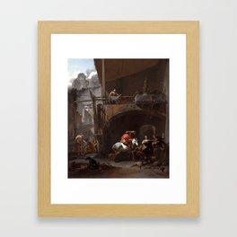 Nicolaes Berchem The Return from the Hunt Framed Art Print