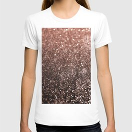Rose Gold Glitter #1 #sparkling #decor #art #society6 T-shirt