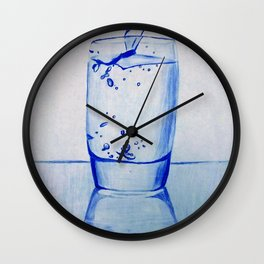 Water Glass Wall Clock
