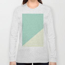 Powder Blue & Powder Pink - oblique Long Sleeve T-shirt