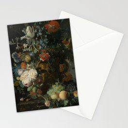 Jan van Huysum - Still life with flowers and fruits (1721) Stationery Cards