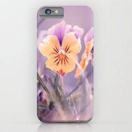 Pansies, flowers in the meadow iPhone Case