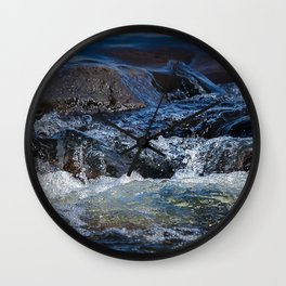 Rocks at Mississippi Headwaters Wall Clock
