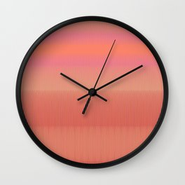 Sunset | Modern Abstract Colorful Pattern Wall Clock