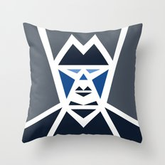 Five Triangle Faces - The Mafioso Throw Pillow