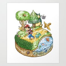 Green Version Art Print