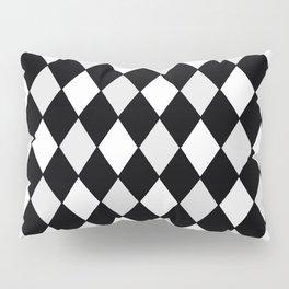 Harlequin Black and White and Gray Pillow Sham