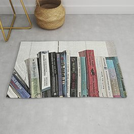 Book shelf love- we are what we read Rug