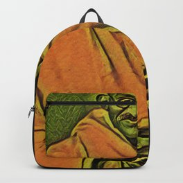 Ghandi Standing Artistic Illustration Oriental Spice Style Backpack