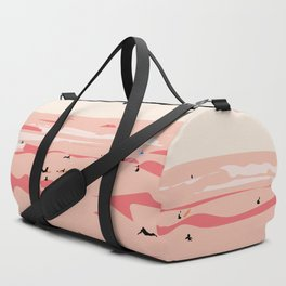 Sunset Tiny Surfers in Lima Illustrated Duffle Bag