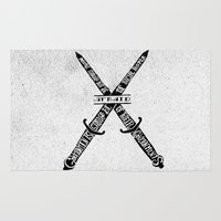 vendetta Area & Throw Rugs featuring V for Vendetta by Drew Wallace