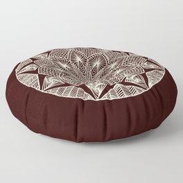 Maroon Mandala Floor Pillow