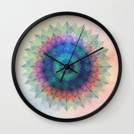 Leaf Mandala Wall Clock