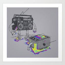 Revenge of the radio star Art Print