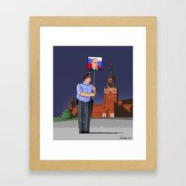 Russian police  Framed Art Print