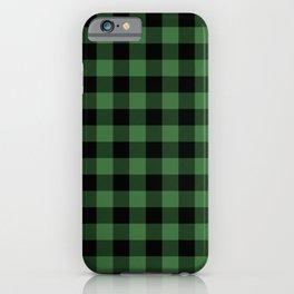 Green Buffalo Plaid  iPhone Case