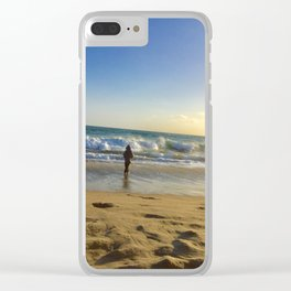 Ocean Serenity Clear iPhone Case