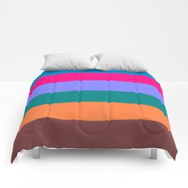 A Drive Along The Coast - Abstract Stripes Comforters