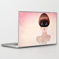 leah flores Laptop & iPad Skins featuring Flores by Pete K.