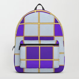 Purples and blues check Backpack