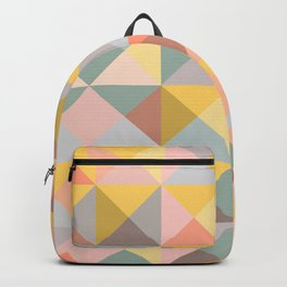 Earthy Pastel Triangles Backpack