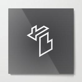 Isometric Michigan Metal Print