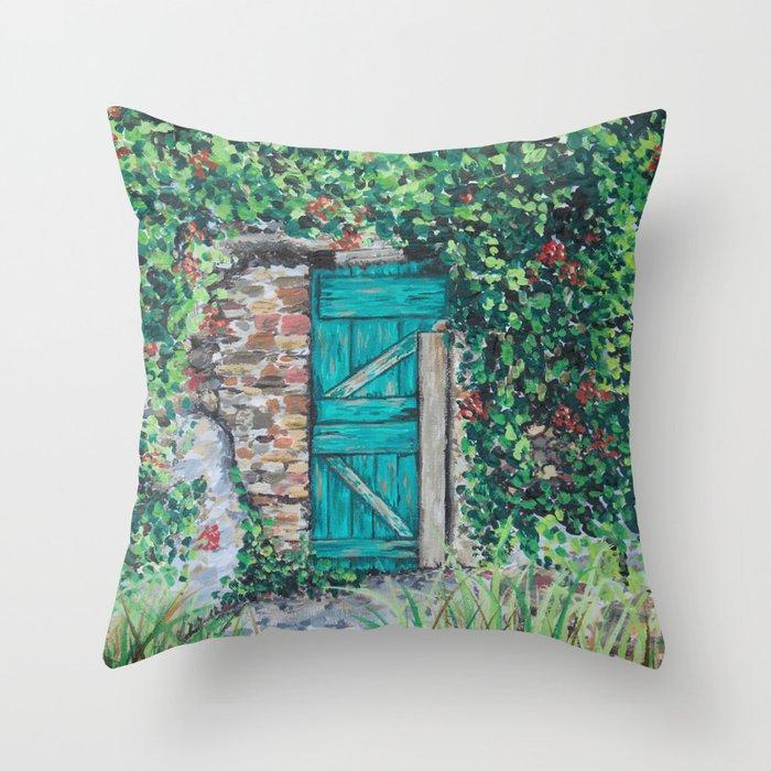 Vinyard Door Throw Pillow