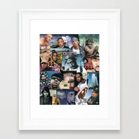 hip hop Framed Art Prints featuring HIP HOP by BONES ART