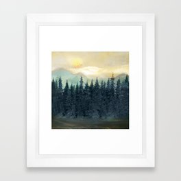 Forest Under the Sunset II Framed Art Print